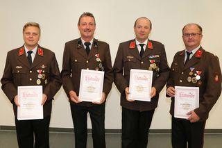Von links: Thomas Traxler, Peter Hackl, Thomas Mayrwöger und Günter Mühleder.