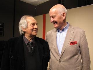 Publikumsliebling Otto Schenk wurde wieder von Festspiel-Vorstand Hermann Döllerer auf die Burg eingeladen.