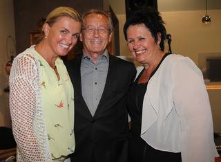 F. Oberger mit den Stadträtinnen L. Unger und M. Sitz.