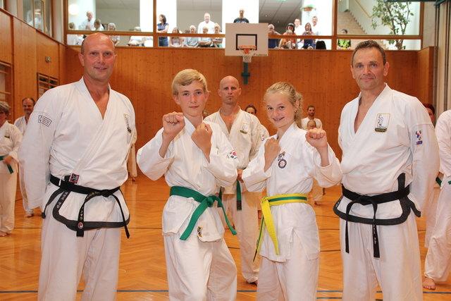 Training mit Sebastian Kreer, Jannik, Anna und Harry Gusel