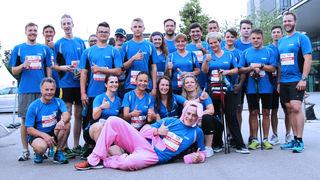 Beste Stimmung herrschte unter den insgesamt 26 Teilnehmern der Firma Camo am Businessrun 2018 in Wels. Die Sportler freuen sich schon auf die zehnte Auflage 2019.