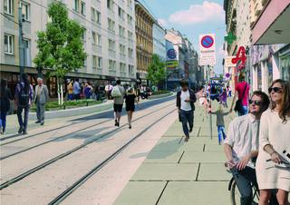 Grüner und schöner soll die Neulerchenfelder Straße werden. Der erste Bauabschnitt ist jetzt gestartet.