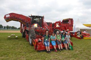 Schüler der LWBFS Waizenkirchen bei ihrer Exkursion in Niederösterreich.