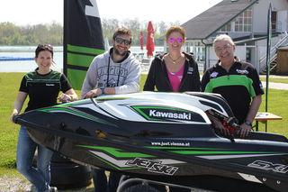 Das Team hinter dem Erfolg: Sandra Just, Kevin Reiterer, Katharina Lach, Ernst Just.