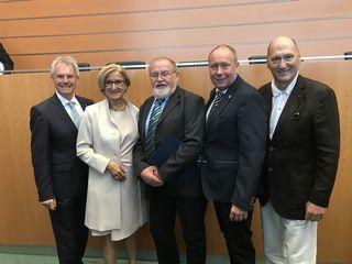 Karl Wilfing, Johanna Mikl-Leitner, Franz Kunz, Thomas Ludwig, Florian Ladengruber