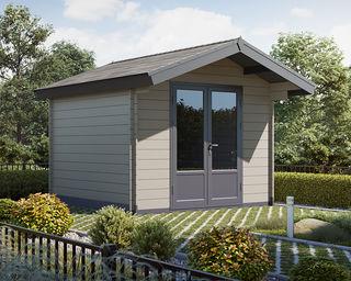 Nahezu wartungsfreie Holzhäuser aus umweltschonendem Holz-Polymer Werkstoffen werden immer beliebter.