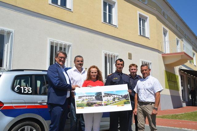 Die neue Polizeiinspektion und die betreuten Wohnungen sind ein wichtiges Zukunftsprojekt mitten in Rechnitz.