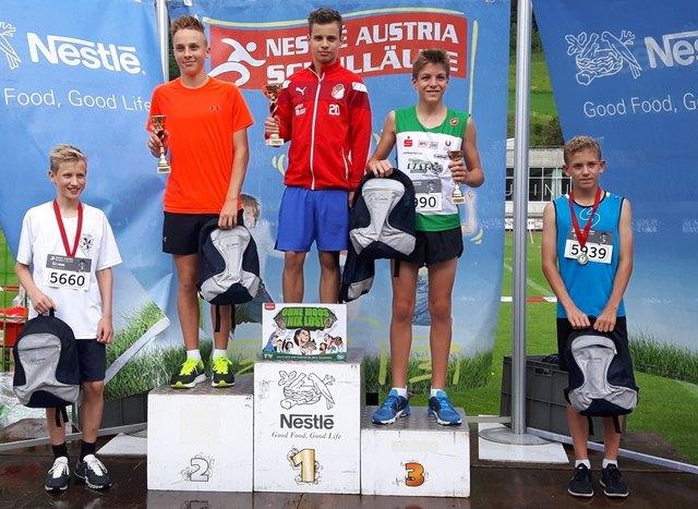 Bundessieger über 1600m: Markus Reißelhuber aus der NMS Harmannsdorf.