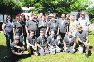 Die Sportler der Lebenshilfe Region Judenburg präsentierten sichtlich stolz die erkämpften Medaillen.