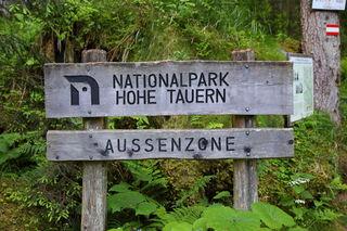 Gleich nach dem Ötzlsee betritt man die Außenzone des Nationalparks Hohe Tauern