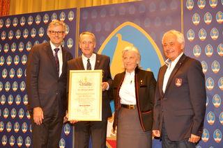 Bgm. Klaus Winkler, Michael Huber, Signe Reisch, Josef Burger (v. li.).