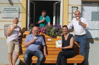 Martina Steininger (TV St. Ruprecht), Werner Korner (Lieb Bau Weiz), Bgm. Herbert Pregartner, Maria Heuberger (TV St. Ruprecht) und Peter Ochensberger (TV St. Ruprecht).