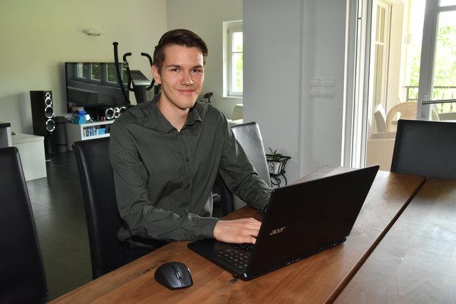 Julian Jautz hatte in fünf Jahren Informatik-HTL, in vier Haupt- und vier Volksschuljahren nur Einser im Zeugnis.
