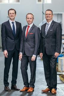 Die Geschäftsführer Stephan Fazeny, Geschäftsführer Heinz Peter Knaß und Gesellschafter Marius Hager, v. l.