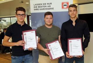 Felix Trinkfaß, Sascha Haring und Fabian Huber.