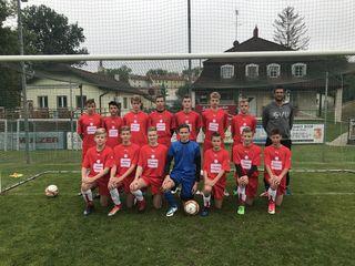 """Am Bild die""""älteste"""" Nachwuchsmannschaft, die U16."""