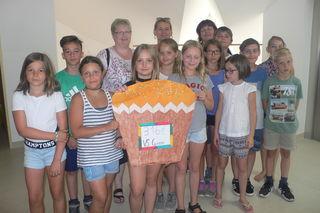4.. Klasse Volksschule Grein beim Besuch im Förderzentrum Waldhausen.