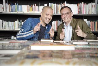 Die Initiatoren Schriftsteller Bernhard Aichner und Haymon Verleger Markus Hatzer.