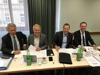 Landesinnungsmeister Franz Rumpolt (2.v.re.) traf sich mit seinen Kollegen aus den Bundesländern.