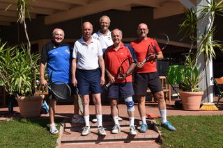 Das Ü65-Team der Ischler Tennissenioren: Sagmeister, Wiesinger, Plamberger, Huber und Lechner.