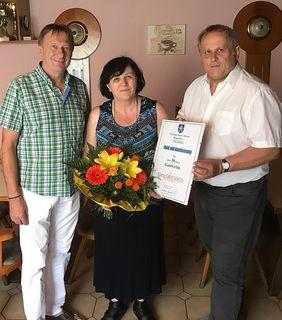 Maria Grandits erhielt eine Dankesurkunde der Gemeinde.