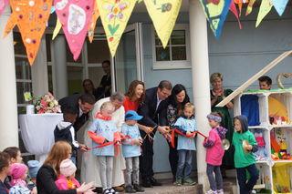 Die Kindergartenkinder gestalteten die Eröffnung.