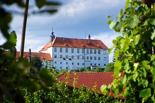 Das Schloss Oberradkersburg steht auf einer Anhöhe an der Mur in der Stadt Gornja Radgona in Slowenien. Fotografiert vom Punkt Villa Marienheim. (Foto: Tomislav JOSIPOVIC)