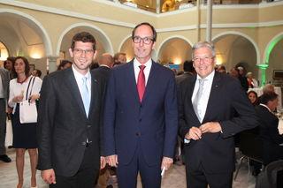Gaben sich die Ehre: LR Martin Gruber, Timo Springer und LH Peter Kaiser