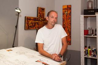 Fotocredits: Christoph Potmesil Maler, Künstler, Querdenker aus Rabensburg