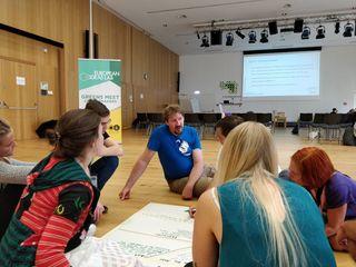 European Ideas Lab: T. Waitz (Mitte) in Diskussion