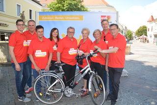 Das SPÖ-Team wird bei de diesjährigen Sommertour auch mit dem Rad unterwegs sein.