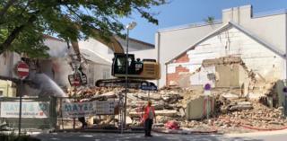 Professionelle Abrissarbeiten im Zentrum von Eisenstadt