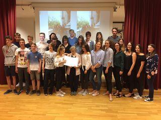 Die Schüler wurden für ihren Landkrimi ausgezeichnet.