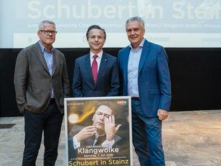 Live dabei: Kainersdorfer, Reiter und Draxler (v. l.)