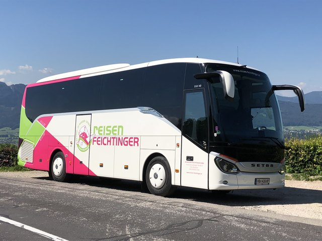 Der neue Bus der Firma Feichtinger zeichnet sich durch einen hohen Komfortstandard aus.