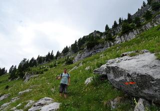 Abstieg über den Auftriebsweg