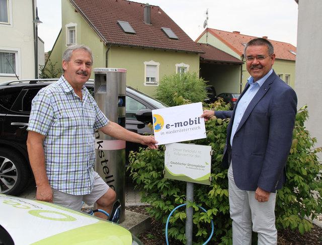 Bürgermeister Alois Mareiner und Landtagsabgeordneter Manfred Schulz