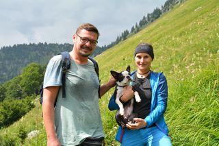 Marika mit ihrem Heinrich und Roland