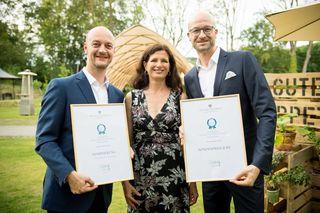 So sehen Sieger aus: Ingo Reinhardt, Karin Dullnig und Bernd Pürcher (v. l.) erhielten Sonderpreis in Niederösterreich.