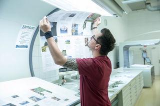 Mit 110 Mitarbeitern zählt Samson Druck zu den größten Druckereien Österreichs.