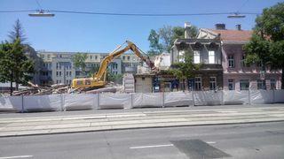 Auch in der Wagramer Straße rollten in den letzten Wochen die Bagger und rissen Häuser ab.