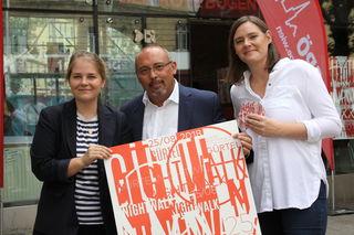 Stefanie Lamp, Peter Jagsch und Stefanie Vasold sind dieses Jahr zum ersten Mal die Gastgeber des Gürtelnightwalks.