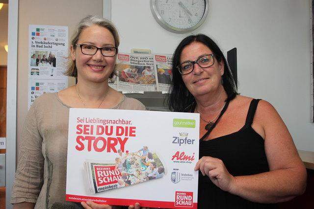 Sonja Huber (l.) mit Gerlinde Laister von der BezirksRundschau.