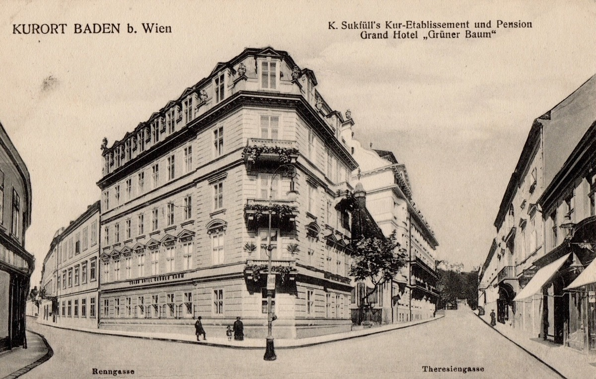Damals Heute Hotel Gruner Baum In Baden Baden