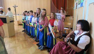 In der Volksschule gab es ein Abschiedsfest. Foto: KK