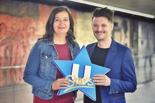 Öffi-Stadträtin Ulli Sima mit SAE-Geschäftsführer Christian Ruff. Im Herbst soll die erste U-Bahn-Stars-CD entstehen.