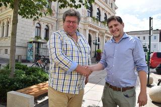 SP-Kommunalmanger Günther Franz mit SPNÖ Kommunikationsmanager Gregor Unfried.