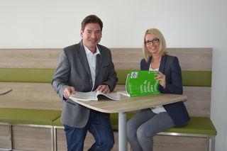WKO-Obmann Klaus Aitzetmüller mit Kerstin Buchegger