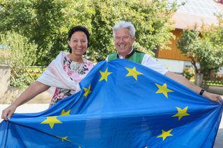 Treffen der Steuerungsgruppe EU 2020 – mit Gritlind Kettl und mit dem Sprecher der Bürgermeister, Josef Tagwercher (Radstadt).