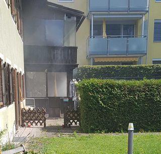 Starke Rauchentwicklung am Wintergarten in Kufstein.
